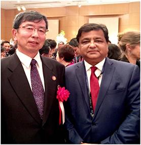 Dr. Sunil Motiwal with Mr. Takehika Nakao, President ADB