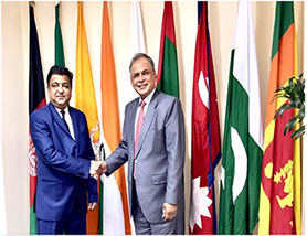 CEO, SAARC Development Fund and H.E Mr. Amjad Hussain B. Sial, the SG of SAARC