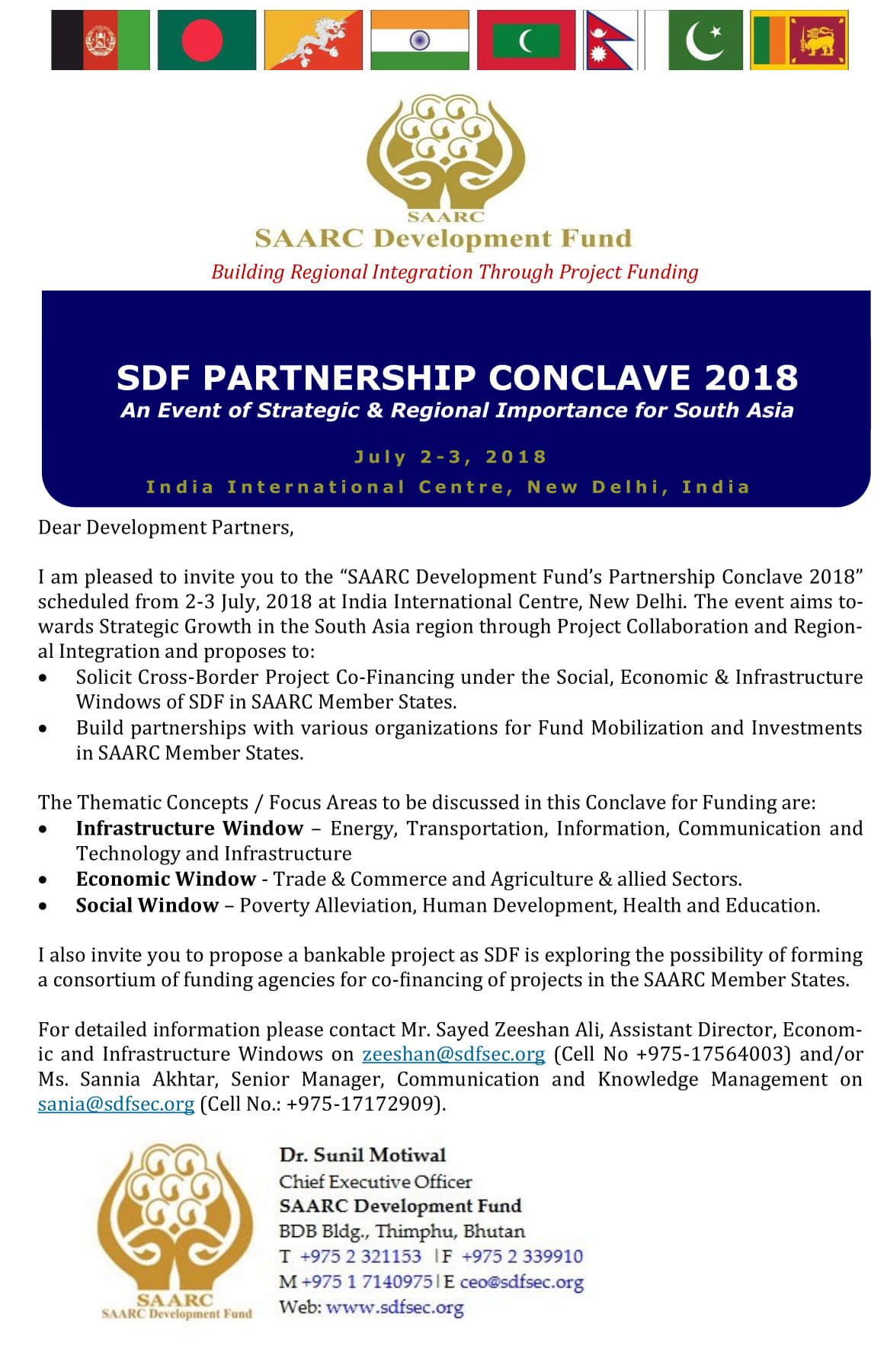 SAARC Development Fund Secretariat for regional integration