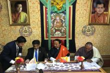 A historic moment for the Ministry of Finance, Royal Government of Bhutan, SAARC Development Fund and Drukair Corporation Ltd. as we signed today a US$13m loan agreement for purchase of Drukair ATR 42-600. This is the first project under SDF's Economic Window. SDF financing would help Drukair Corporation Ltd. extend aviation connectivity with Bangladesh, India and Nepal and thus, provide economic connectivity and regional integration.  The signing ceremony was held at the Ministry of Finance