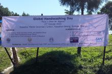 Global handwashing day banner.