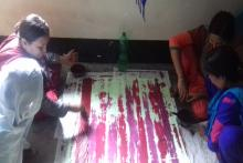 Multi tie dying process